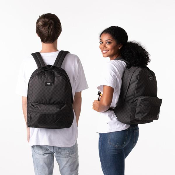alternate view Vans Old Skool Checkerboard Backpack - Black / CharcoalALT1BADULT