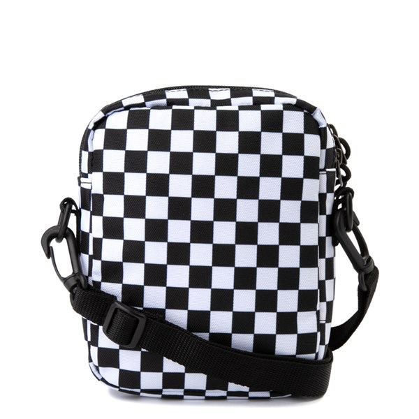 alternate image alternate view Vans Bail Checkerboard Shoulder Bag - Black / WhiteALT1