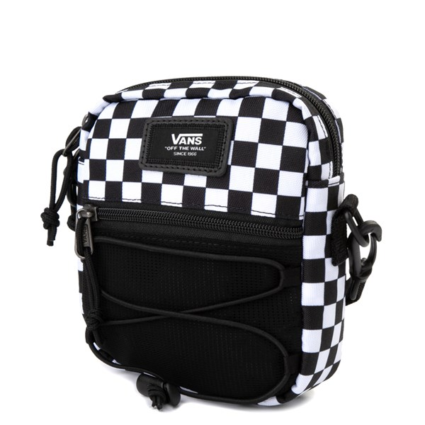 alternate image alternate view Vans Bail Checkerboard Shoulder Bag - Black / WhiteALT2
