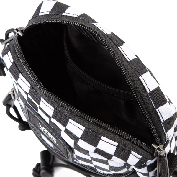 alternate image alternate view Vans Bail Checkerboard Shoulder Bag - Black / WhiteALT3