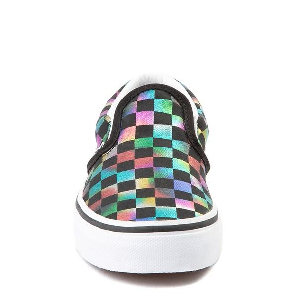 alternate image alternate view Vans Slip On Iridescent Checkerboard Skate Shoe - Little Kid / Big Kid - Black / MultiALT4