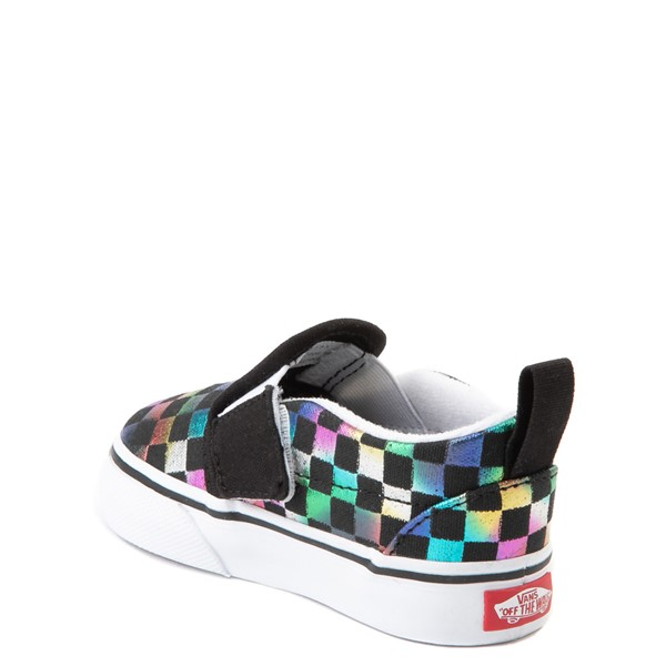 alternate image alternate view Vans Slip On Iridescent Checkerboard Skate Shoe - Baby / ToddlerALT1