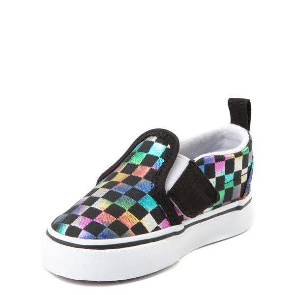 alternate image alternate view Vans Slip On Iridescent Checkerboard Skate Shoe - Baby / ToddlerALT2