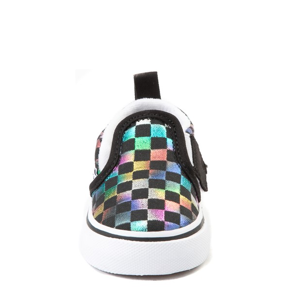 alternate image alternate view Vans Slip On Iridescent Checkerboard Skate Shoe - Baby / ToddlerALT4