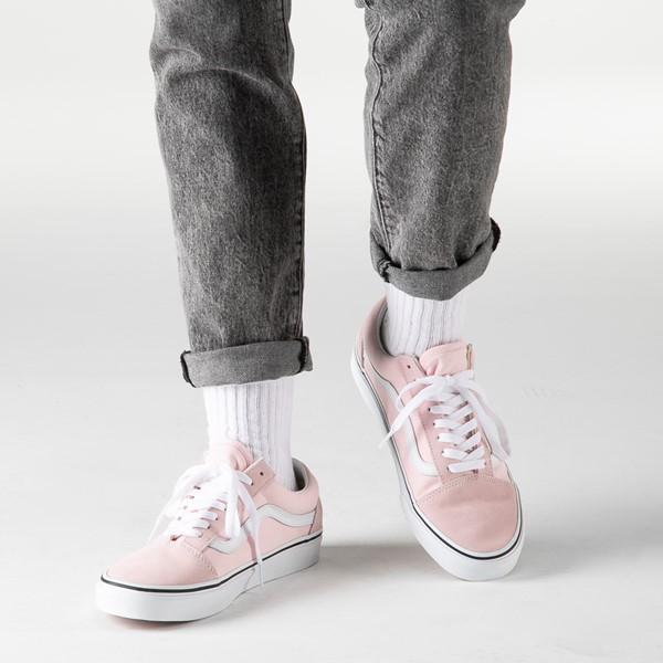 alternate image alternate view Vans Old Skool Skate Shoe - Blushing PinkB-LIFESTYLE1