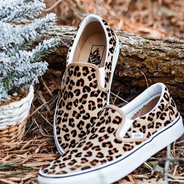 alternate image alternate view Vans Slip On Skate Shoe - LeopardALT1B