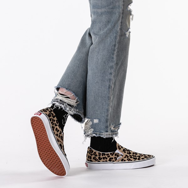 alternate image alternate view Vans Slip On Skate Shoe - LeopardB-LIFESTYLE1