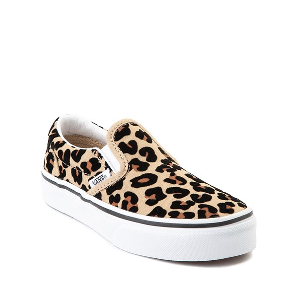 alternate image alternate view Vans Slip On Skate Shoe - Little Kid / Big Kid - LeopardALT5