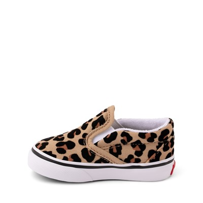 Alternate view of Vans Slip On Skate Shoe - Baby / Toddler - Leopard