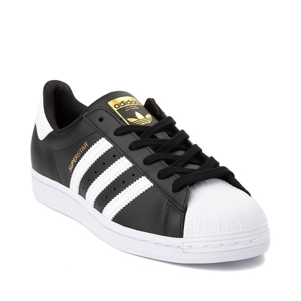 alternate image alternate view Womens adidas Superstar Athletic Shoe - Black / WhiteALT5