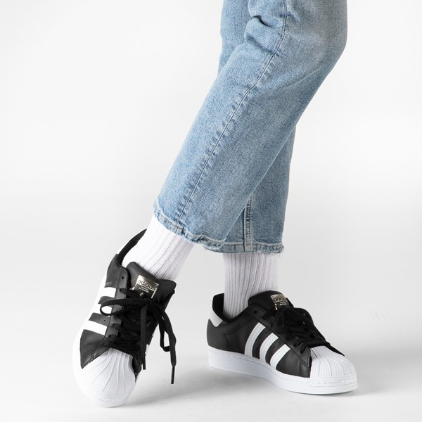 alternate image alternate view Womens adidas Superstar Athletic Shoe - Black / WhiteB-LIFESTYLE1