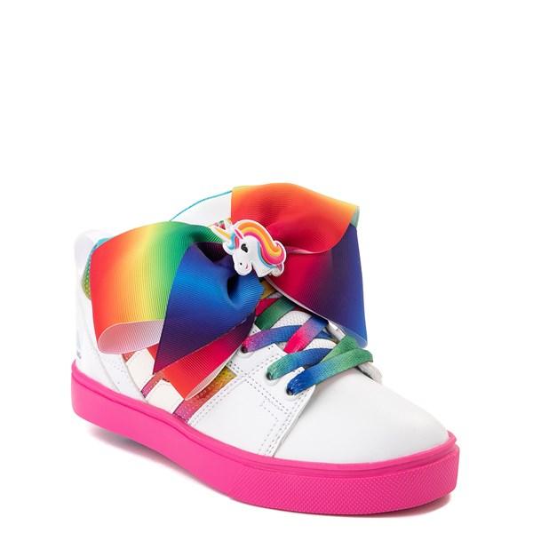 alternate image alternate view Heelys Racer JoJo Siwa™ Skate Shoe - Little Kid / Big Kid - White / RainbowALT1
