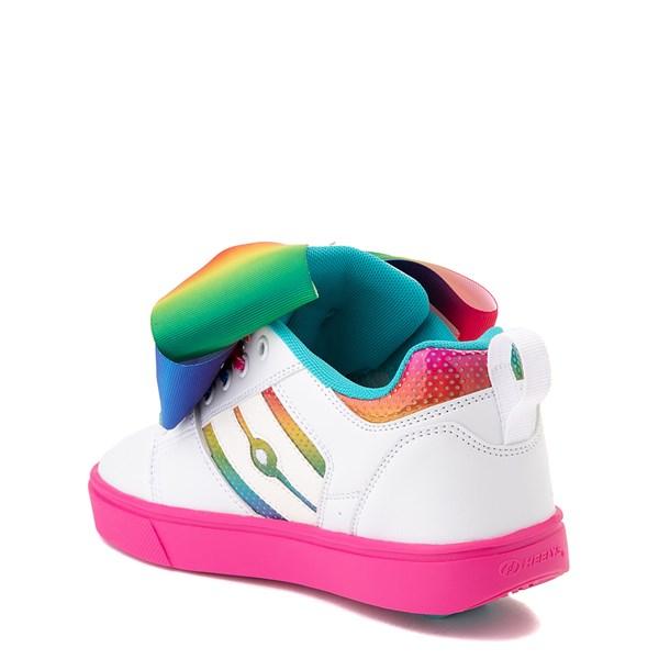 alternate image alternate view Heelys Racer JoJo Siwa™ Skate Shoe - Little Kid / Big Kid - White / RainbowALT2