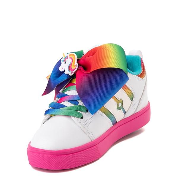 alternate image alternate view Heelys Racer JoJo Siwa™ Skate Shoe - Little Kid / Big Kid - White / RainbowALT3