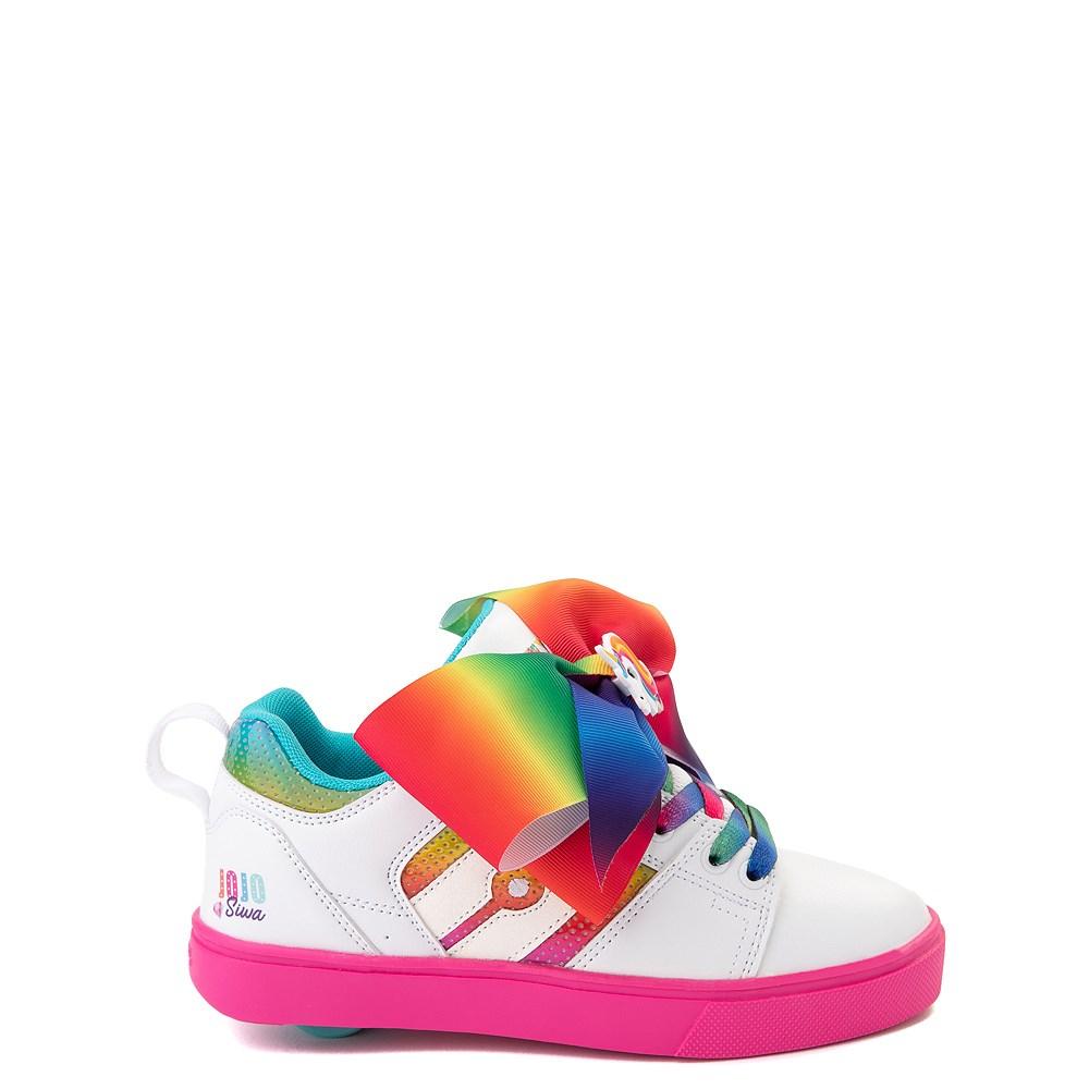 Heelys Racer JoJo Siwa™ Skate Shoe - Little Kid / Big Kid - White / Rainbow