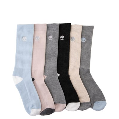 Main view of Womens Timberland Boot Crew Socks 6 Pack