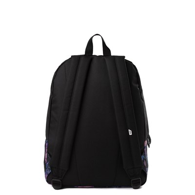 Alternate view of Vans Realm Floral Drip Backpack - Black / Purple
