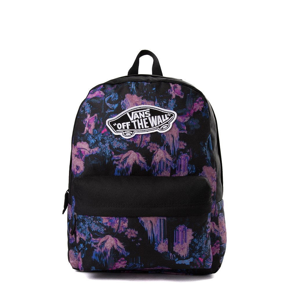 Vans Realm Floral Drip Backpack - Black / Purple
