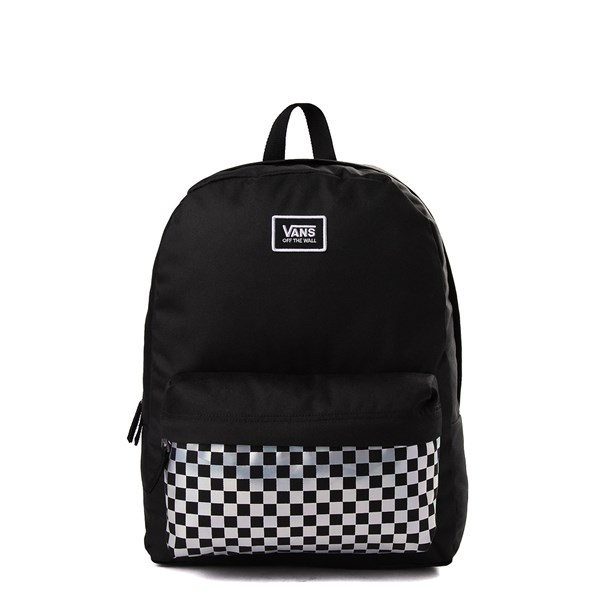 Vans Realm Iridescent Checkerboard Backpack - Black