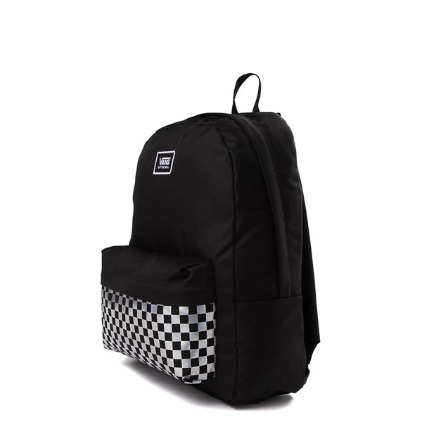 alternate image alternate view Vans Realm Iridescent Checkerboard Backpack - BlackALT2