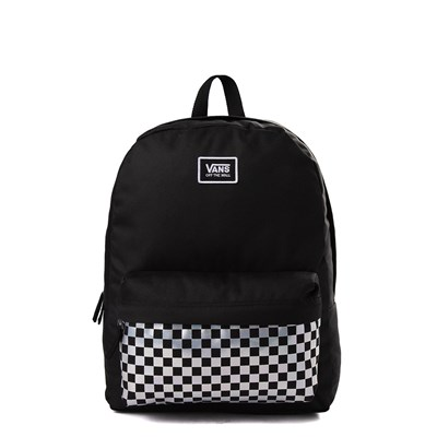 Main view of Vans Realm Iridescent Checkerboard Backpack - Black