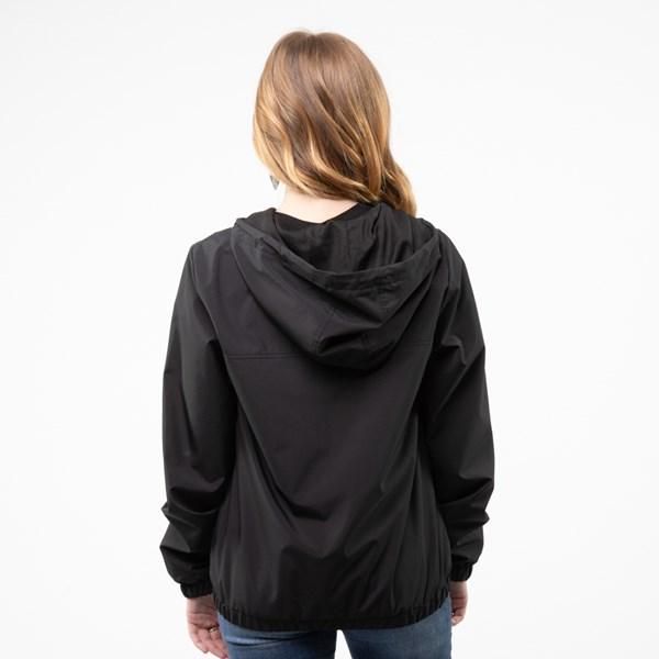 alternate image alternate view Womens Vans Kastle Windbreaker Jacket - BlackALT1B