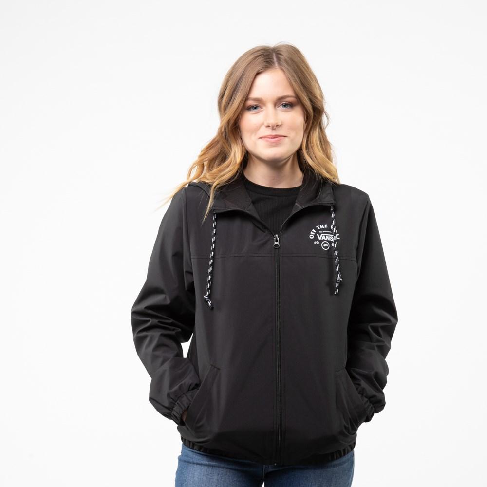 Womens Vans Kastle Windbreaker Jacket - Black