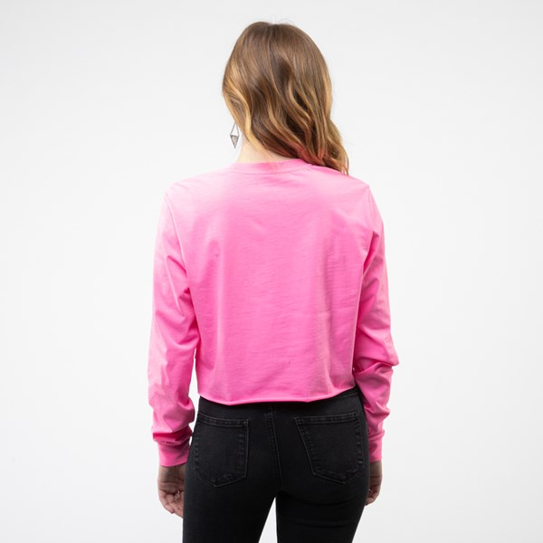 alternate image alternate view Womens Vans After Dark Cropped Long Sleeve Tee - Knockout PinkALT1