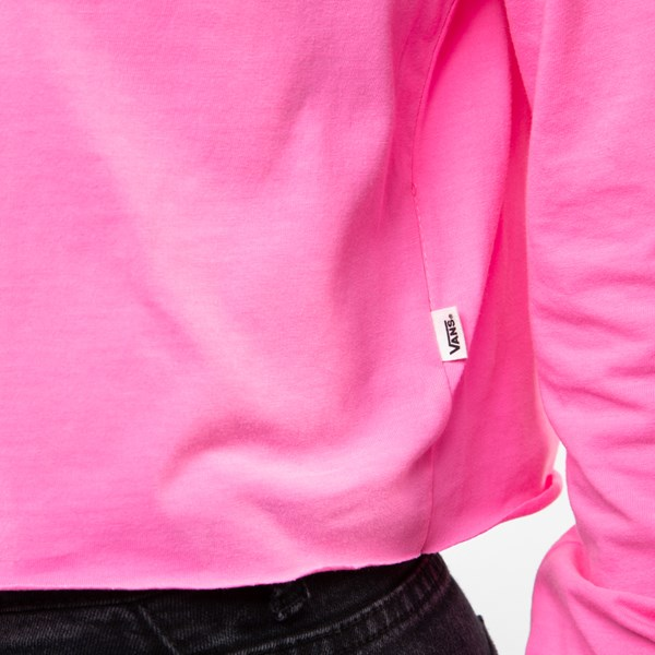 alternate image alternate view Womens Vans After Dark Cropped Long Sleeve Tee - Knockout PinkALT4