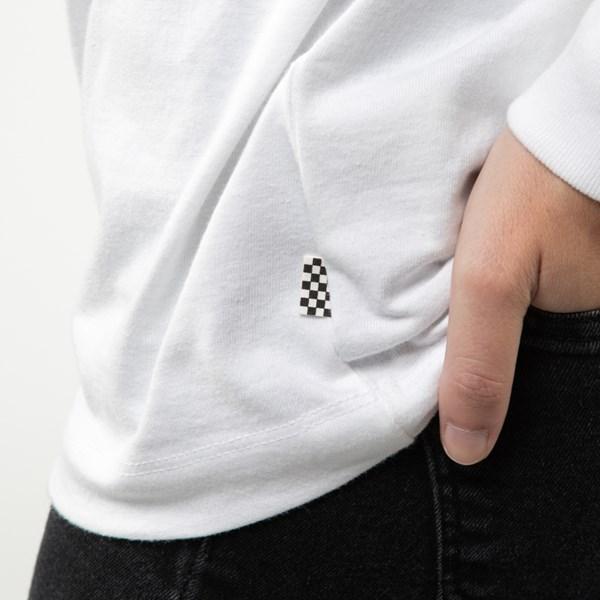 alternate image alternate view Womens Vans Dripples Long Sleeve Tee - WhiteALT5