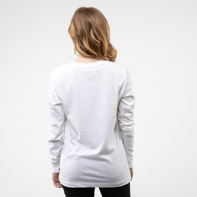 Alternate view of Womens Vans Dripples Long Sleeve Tee - White