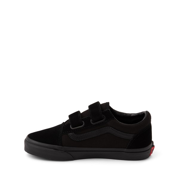 alternate image alternate view Vans Old Skool V Skate Shoe - Little Kid - Black MonochromeALT1