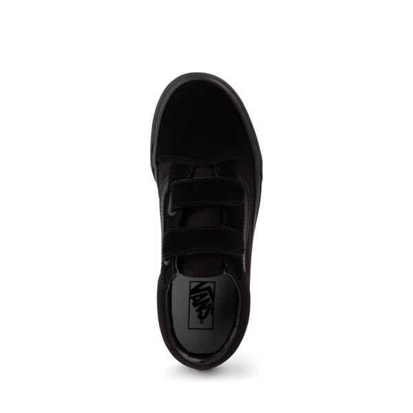 alternate image alternate view Vans Old Skool V Skate Shoe - Little Kid - Black MonochromeALT2
