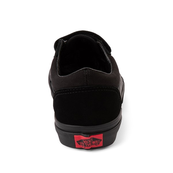 alternate image alternate view Vans Old Skool V Skate Shoe - Little Kid - Black MonochromeALT4