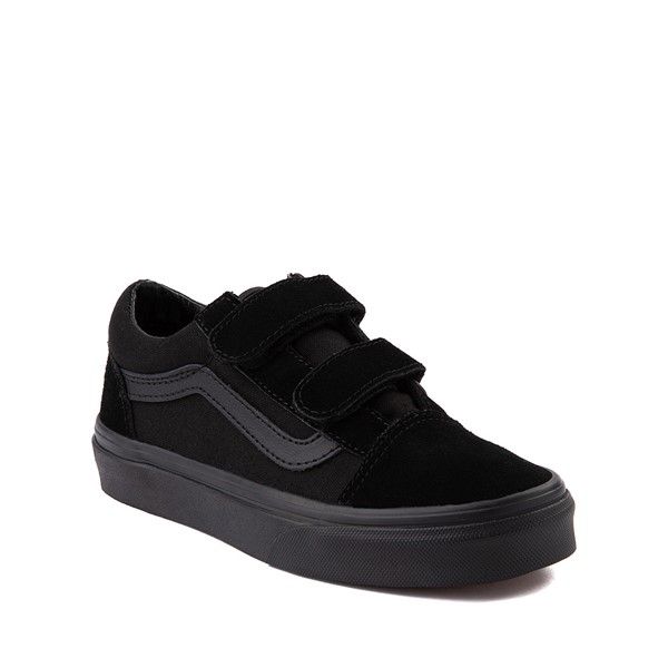 alternate image alternate view Vans Old Skool V Skate Shoe - Little Kid - Black MonochromeALT5
