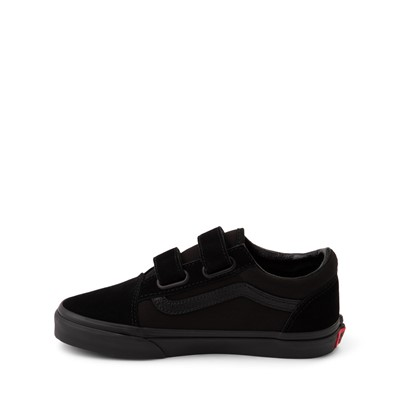 Alternate view of Vans Old Skool V Skate Shoe - Little Kid - Black Monochrome