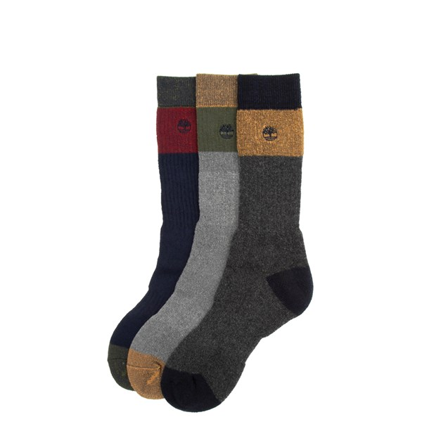 Mens Timberland Boot Crew Socks 3 Pack