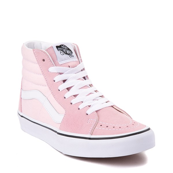 alternate image alternate view Vans Sk8 Hi Skate Shoe - Blushing Pink / True WhiteALT1