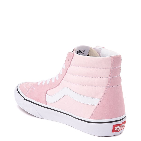 alternate image alternate view Vans Sk8 Hi Skate Shoe - Blushing Pink / True WhiteALT2