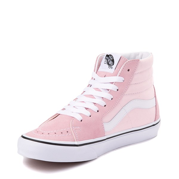 alternate image alternate view Vans Sk8 Hi Skate Shoe - Blushing Pink / True WhiteALT3