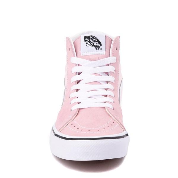 alternate image alternate view Vans Sk8 Hi Skate Shoe - Blushing Pink / True WhiteALT4