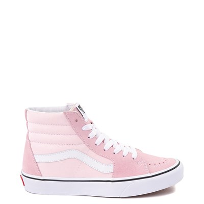 Main view of Vans Sk8 Hi Skate Shoe - Blushing Pink / True White