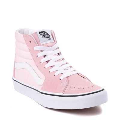 Alternate view of Vans Sk8 Hi Skate Shoe - Blushing Pink / True White