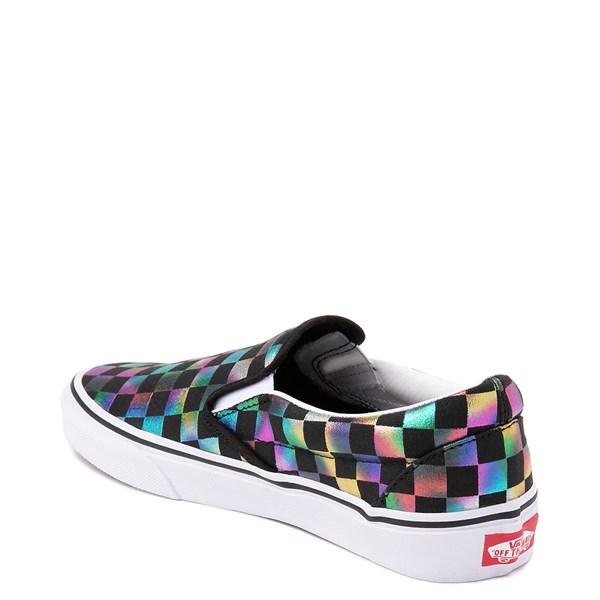 alternate image alternate view Vans Slip On Iridescent Checkerboard Skate Shoe - Black / MultiALT2