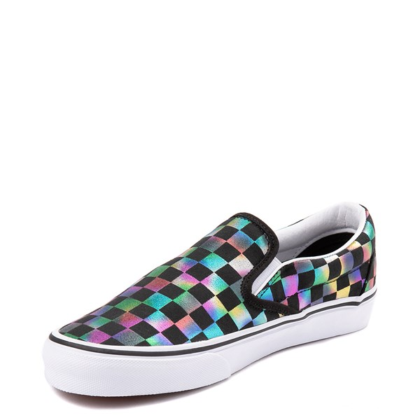 alternate image alternate view Vans Slip On Iridescent Checkerboard Skate Shoe - Black / MultiALT3