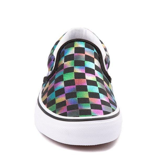 alternate image alternate view Vans Slip On Iridescent Checkerboard Skate Shoe - Black / MultiALT4