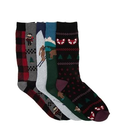 Main view of Mens Winter Sweater Crew Socks 5 Pack