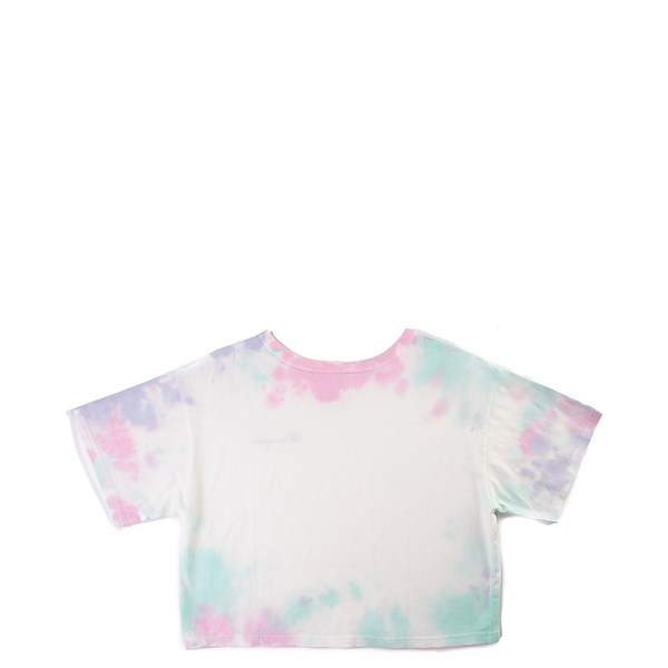 alternate image alternate view Womens Champion Heritage Cropped Tee - Tie DyeALT1