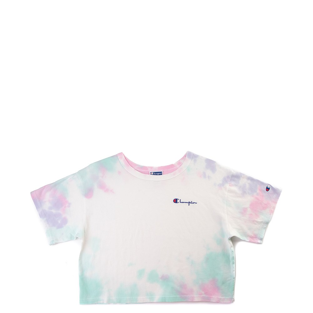 Womens Champion Heritage Cropped Tee - Tie Dye