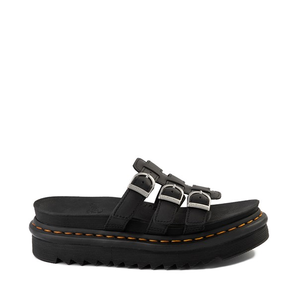 Womens Dr. Martens Harron Slide Sandal - Black